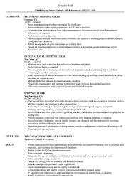 Shipping Clerk Resume Samples Velvet Jobs