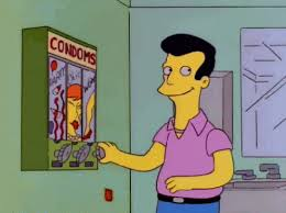 Simpsons Vending Machine Magnificent Condom Machine GIF TheSimpsons Washroom VendingMachine Discover