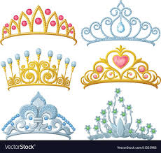 Tiara Design Ideas Set Of Princess Crowns Tiara Isolated On White Vector Image