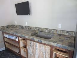 slate tile kitchen countertop