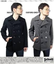 shots schott pea coat men s p coat jacket mens 7118 pea coat p
