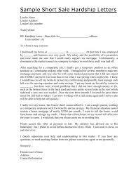 Sample Short Sale Hardship Letters Richard Adams