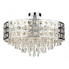 large modern laser cut semi flush fitting circular crystal chandelier in for low ceiling plan 3