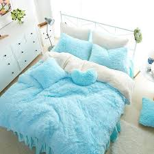 white blue princess girls bedding set thick fleece warm winter bed set king queen twin size duvet cover pillow cover bed skirt cool bedding blue bedding
