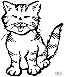 cat coloring page. Wonderful Page Cat Colouring Sheet In Cat Coloring Page P