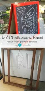create your own chalkboard art signs for any event with this super easy diy chalkboard easel