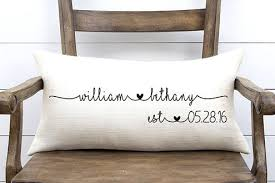 wedding gifts personalized pillow