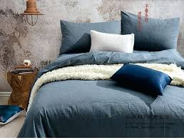 navy blue duvet cover california king dhl free home textile pure navy blue solid bedding set