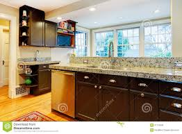 Black Top Kitchen Designs Kitchen Design Black Wood Cabinets Marble Counter Top