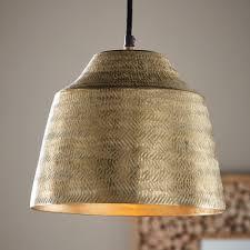 Metal Pendant Lighting Basket Weave Aluminum Pendant Light Vivaterra