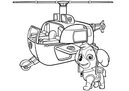 Paw Patrol Skyes Helicopter Coloring Page Paw Patrol Paw Patrol