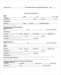 Enrolment Form Template] 10 Printable Registration Form Templates ...