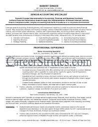 Sample Resume For Staff Accountant Elegant Senior Accountant Resume
