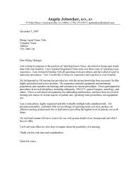 Nurse Cover Letter For Resume