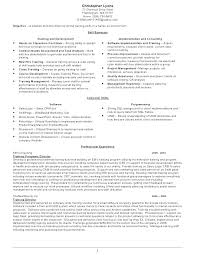 Trainer Resume Example Professional Profile Resume Examples Examples ...