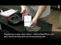 broken side view mirror glass you