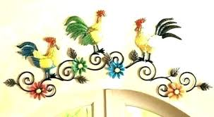 rooster wall decor metal rooster wall decor rooster decorations for kitchen metal rooster wall art rooster