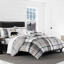 grey plaid comforter.  Comforter Normandy Plaid Comforter Set Throughout Grey F
