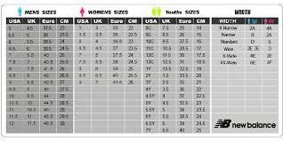 Reebok Shoe Size Chart For Kids Reebok Size Chart