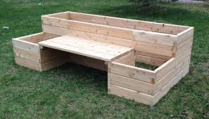 4 x 8 raised garden bed with bench
