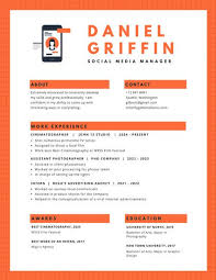 Modern Resume Icon Orange Phone Icon Modern Resume Templates By Canva