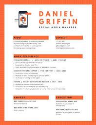 canva modern resume templates orange phone icon modern resume templates by canva