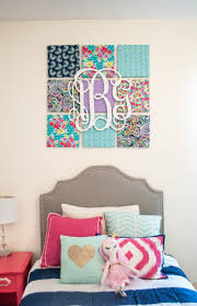 wall art decor ideas personalized initial named diy fabric wall art initial