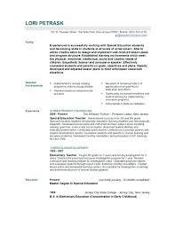 Student Teaching Resume Examples Resume Sample For Computer Teacher