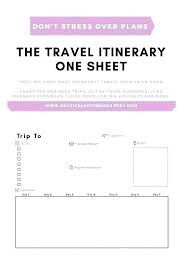 Travel Trip Planner Travel Itinerary Planner Template