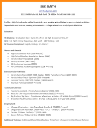 High School Student Resume Templates For Collegesample Resume