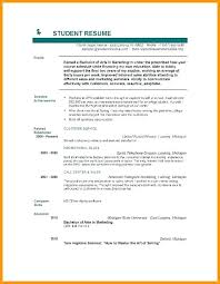 Resume Format For Students Classy Resume Format For Btech Student Download Students College Example