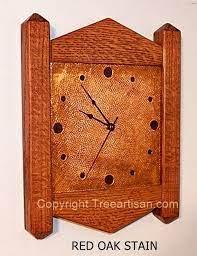 wall clock arts crafts mission stickley