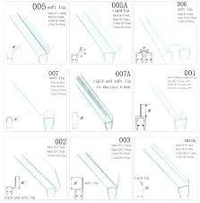 glass shower door seals seal strip sealer rubber side doo