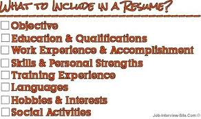 What Should A Resume Include Unique What To Include In A Resume When Typing It28 Should For Job