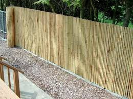 view in gallery bamboo fencing adds privacy to chain link