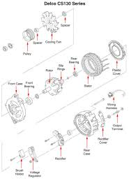 Wiring diagram delco remy cs130 alternator sbc 1 lively