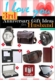 awesome 3rd anniversary gift ideas for him gifts for your husband