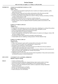 Medical Surgical Nursing Resume Sample Surgical Nurse Resume Samples Velvet Jobs 9