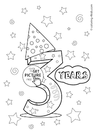Small Picture 3 years birthday coloring pages for kids printables coloing