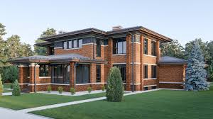 Millikin Place Prairie Style Homes  Illinois In Focus A Frank Lloyd Wright Style House