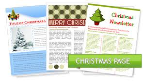 Microsoft Word Newsletter Christmas Newsletter Template Microsoft Word Worddraw Free Holiday