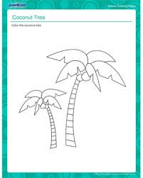coconut tree nature coloring pages and printables jumpstart coconut tree pretty nature coloring pages online