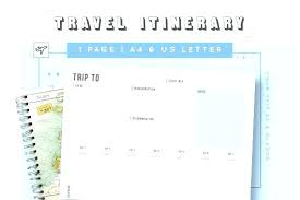 Road Trip Template Sample Trip Itinerary Template Word Family Travel