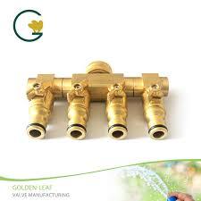 duty brass 4 way hose manifold hose
