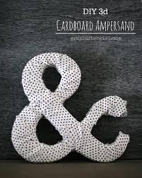 diy 3d cardboard ampersand