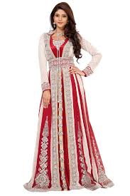 moroccan wedding dress. alternative wedding dress white and red wedding dress Palas Fashion