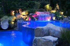 pool waterfall lighting. Modern Pool Waterfall Designs Sparkling Led Lighting For Amazing Swimming With U