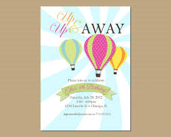 Balloon Birthday Invitations Hot Air Balloon Birthday Invitation Printable Invitation