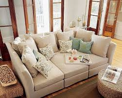 Three-piece sectional by Pottery Barn.