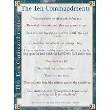 10 Commandments Chart Ten Commandments Kjv Wall Chart Laminated